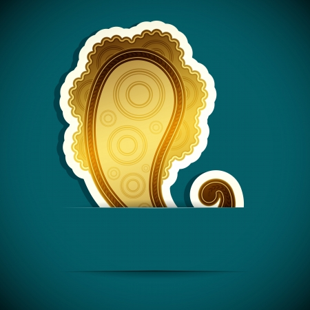 mhendi: Paisley background. Design element inserted into a slot on the paper card