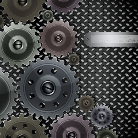 fluted: Vector abstract background with techno elements.