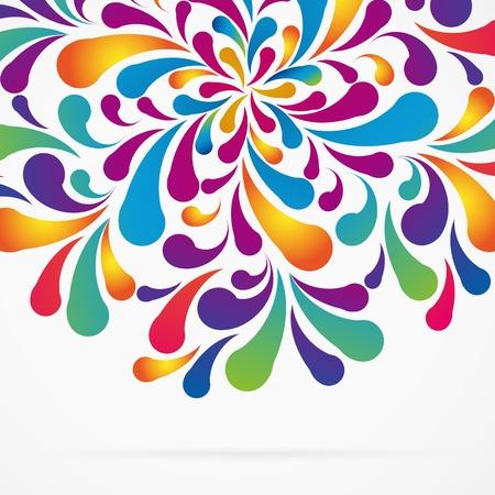 Graancirkel gemaakt van kleurrijke boog daalt. Decoratieve achtergrond.