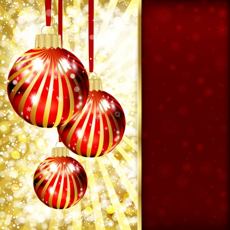 Background with Christmas balls. vector illustration Stock Vector - 16595145