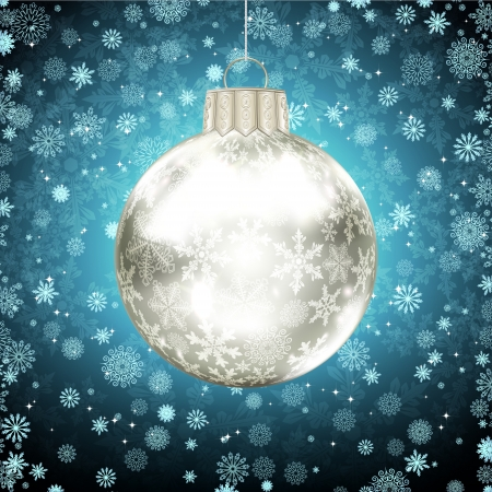 Background with Christmas balls. vector illustration Stock Vector - 16595150