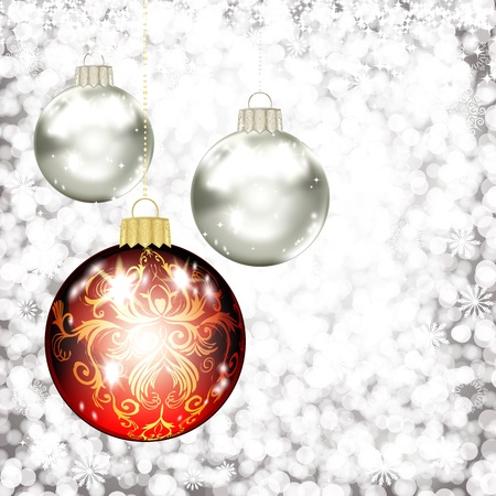 Background with Christmas balls. vector illustration Stock Vector - 16595152