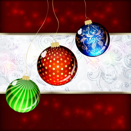 Background with Christmas balls. vector illustration Stock Vector - 16595151