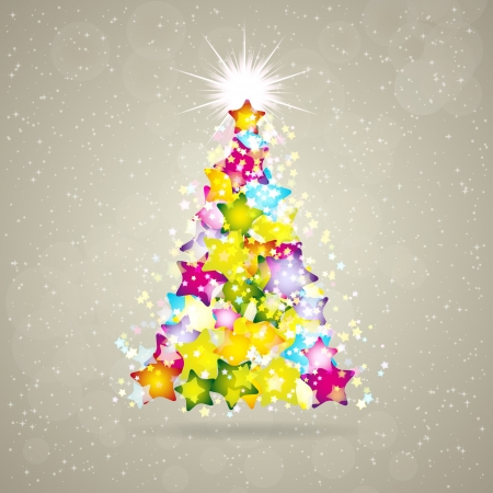 Christmas background with stars and place for text. Vector Illustration. Stock Vector - 16595155