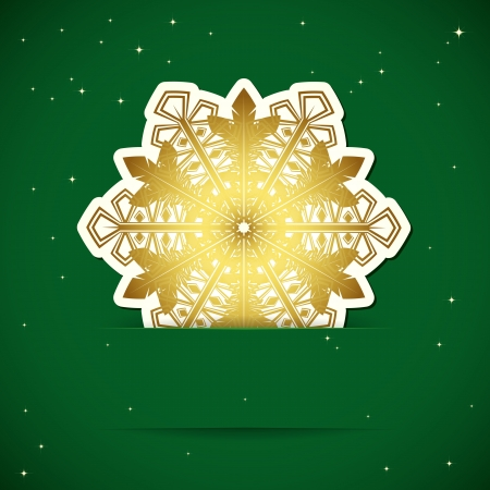Christmas background  Snowflake inserted into a slot on the paper card  Vector illustration Stock Vector - 16933063