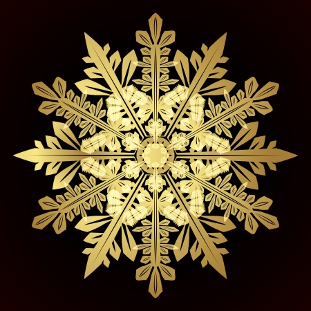 Card with christmas snowflake, vector illustration Stock Vector - 16942367