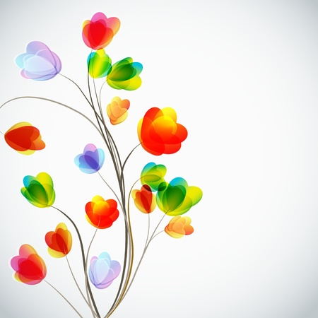 Background with a flowers Stock Vector - 16977378