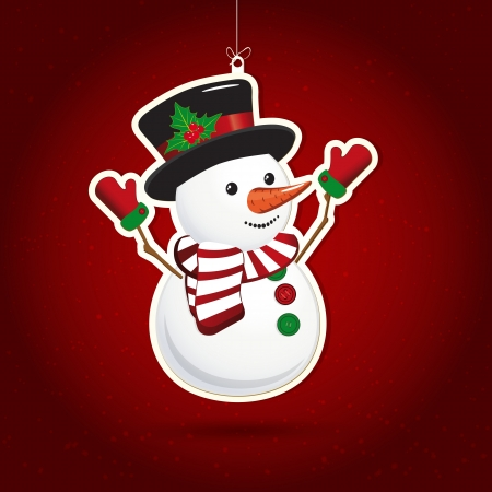 Background with Christmas decoration, illustration.  Vector