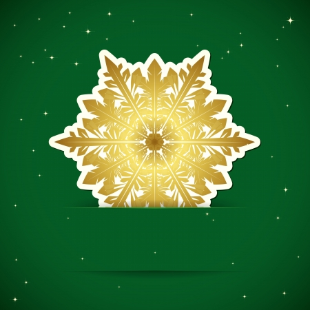 Christmas background. Snowflake inserted into a slot on the paper card. Vector illustration. Stock Vector - 17349969