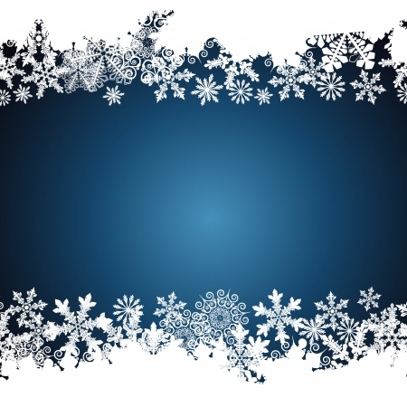 Christmas border, snowflake design background. Illustration
