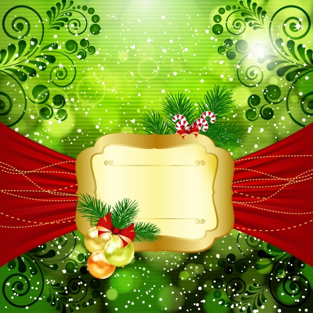 Christmas bright background with place for text. Vector illustration. Stock Vector - 17349955