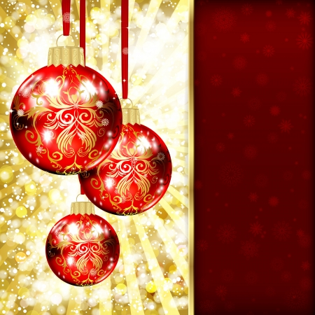 Background with Christmas balls. vector illustration Stock Vector - 17350036