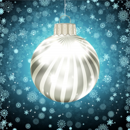 Background with Christmas balls. vector illustration Stock Vector - 17349978