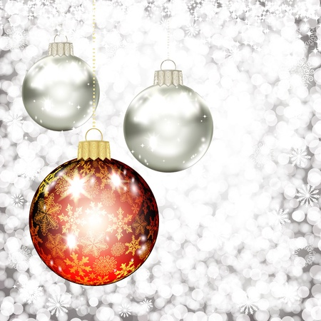 Background with Christmas balls. vector illustration Stock Vector - 17350040