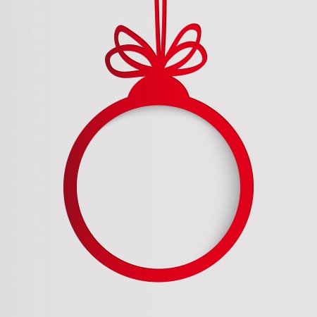Christmas ball in the form of an empty frame for your text. Vector
