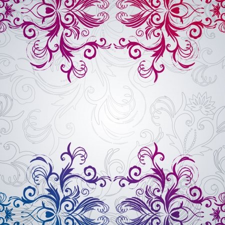 Abstract vector floral background with east flowers. Stock Vector - 17349944