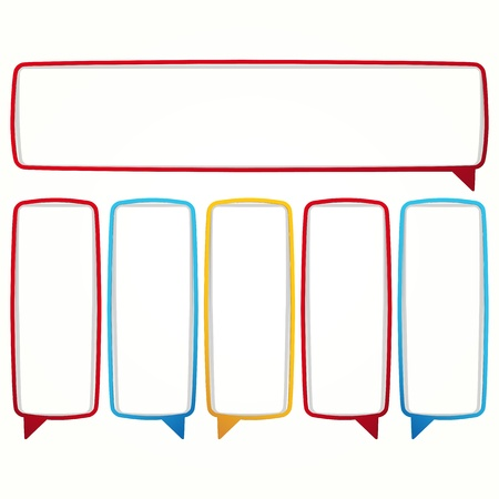 Colorful speech bubble frames. Labels in the form of an empty frame for your text. Stock Vector - 17349914