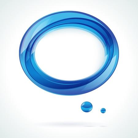 Speech blue bubble vector background Vector