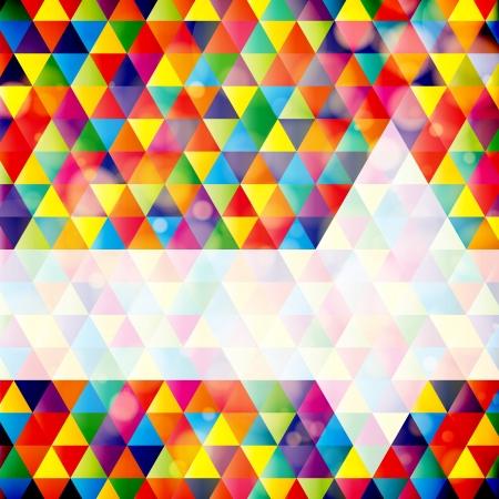 arte optico: Fondo de mosaico geométrico abstracto con la muestra para el texto. Vector Illustration