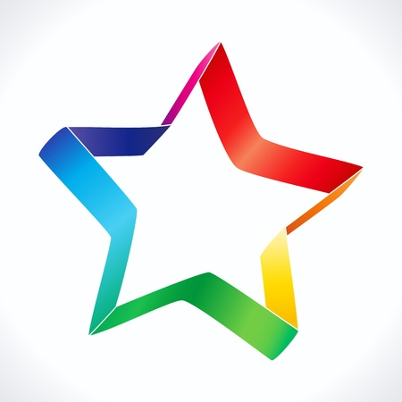 Colorful star icon on white background, eps 10 Stock Vector - 17349905