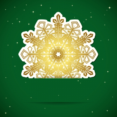 Christmas background. Snowflake inserted into a slot on the paper card. Stock Vector - 17566938