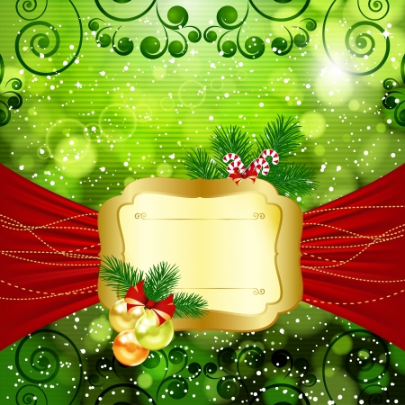Christmas bright background with place for text. Stock Vector - 17566886