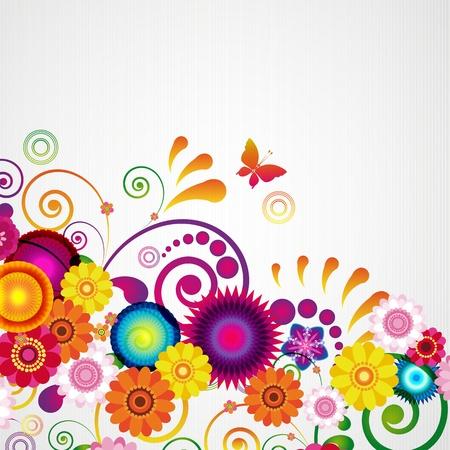 Gift card. Floral design achtergrond. Stock Illustratie