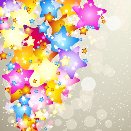 xmas decoration: Christmas background with stars and place for text.
