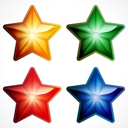 Color star icon on white background Stock Vector - 17566859