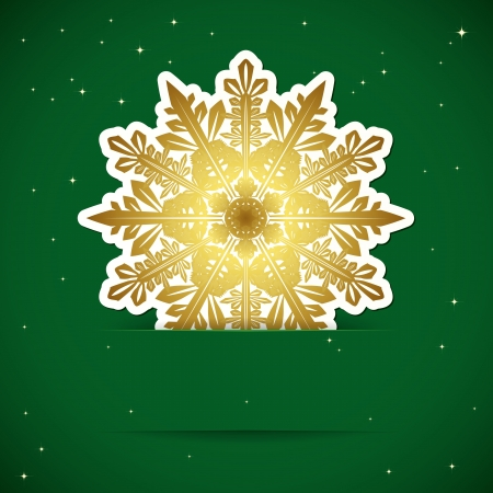 Christmas background. Snowflake inserted into a slot on the paper card. Vector illustration. Stock Vector - 17660241
