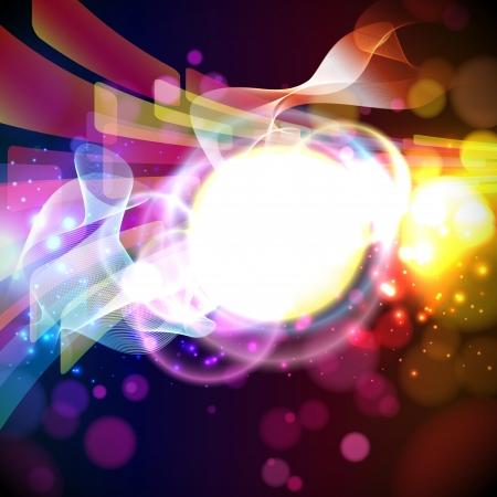 birthday border: Abstract lights background.  Vector.  Illustration