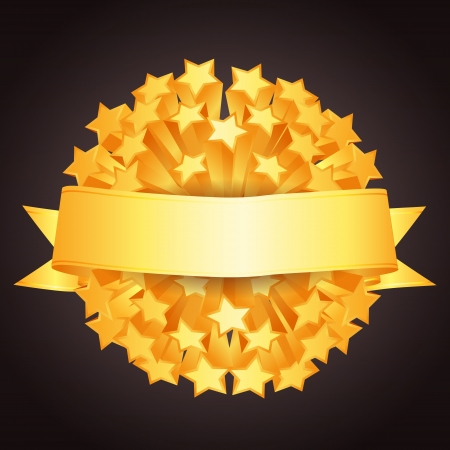 award badge: Holiday vector background sign with place for your text