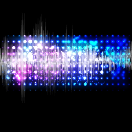 fluorescent: Vector music equalizer wave