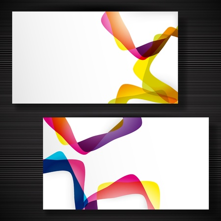 Abstract business-card with forms of empty frames for your card design. Stock Vector - 17660225