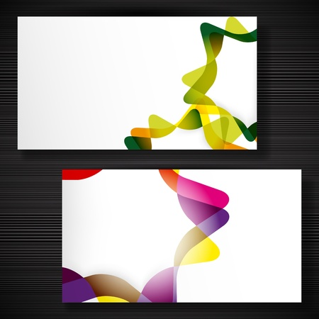 Abstract business-card with forms of empty frames for your card design. Vector