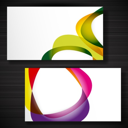 business card template: Abstract business-card with forms of empty frames for your card design.