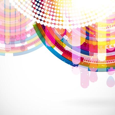 Abstract digital circles vector background Stock Vector - 17660166