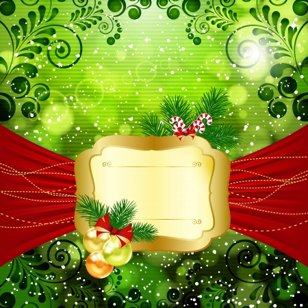 Christmas bright background with place for text. Vector illustration. Stock Vector - 17660233