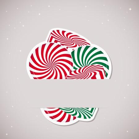 confect: Sfondo con caramelle inserita in uno slot sulla scheda di carta. Illustrazione vettoriale. Vettoriali