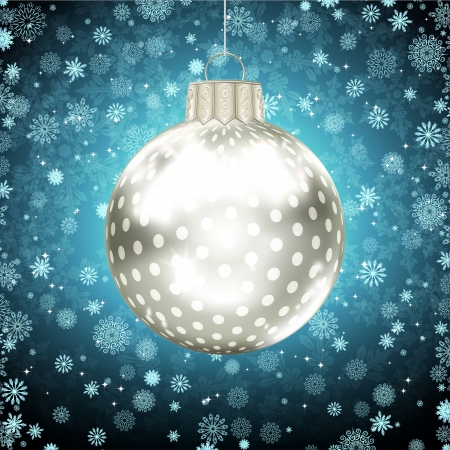 Background with Christmas balls. vector illustration Stock Vector - 17660288