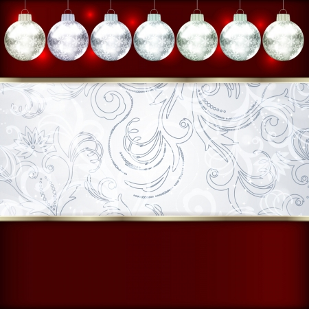 Background with Christmas balls. vector illustration Stock Vector - 17660336