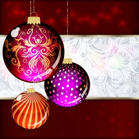 Background with Christmas balls. vector illustration Stock Vector - 17660294