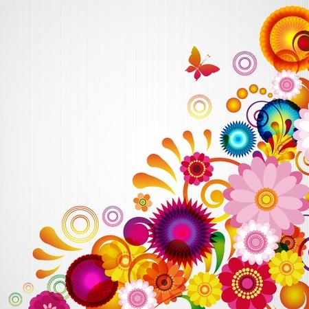 carnival background: Gift card. Floral design background.