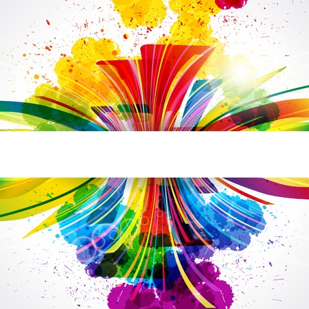 colour splash: Abstract background forming by watercolor paint splashes. Illustration