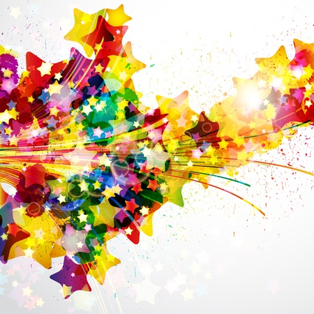Abstract background forming by watercolor paint splashes. Illustration
