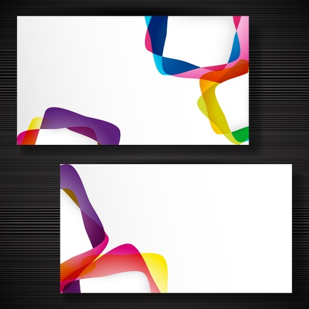 Abstract business-card with forms of empty frames for your card design. Stock Vector - 17922801
