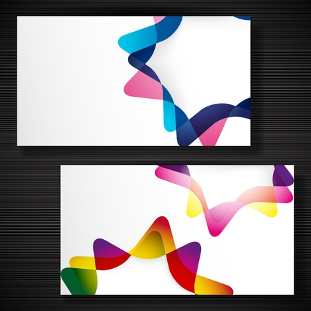 Abstract business-card with forms of empty frames for your card design. Stock Vector - 17917751