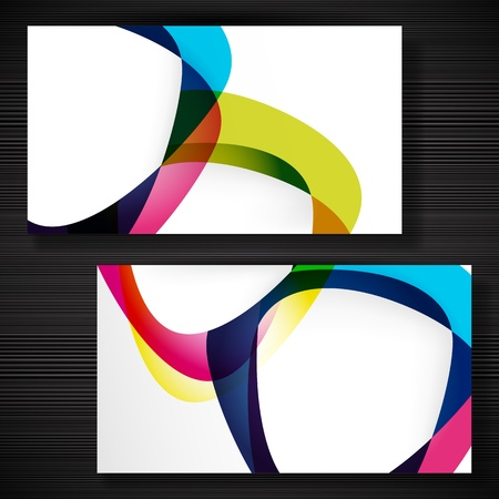 Abstract business-card with forms of empty frames for your card design. Stock Vector - 17922807