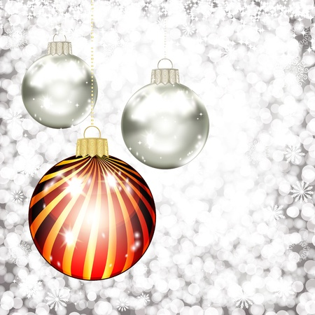 Background with Christmas balls. vector illustration Stock Vector - 17922813