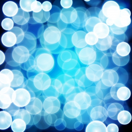 Blue festive background. Elegant abstract background with bokeh defocused lights. Stock Vector - 17922797
